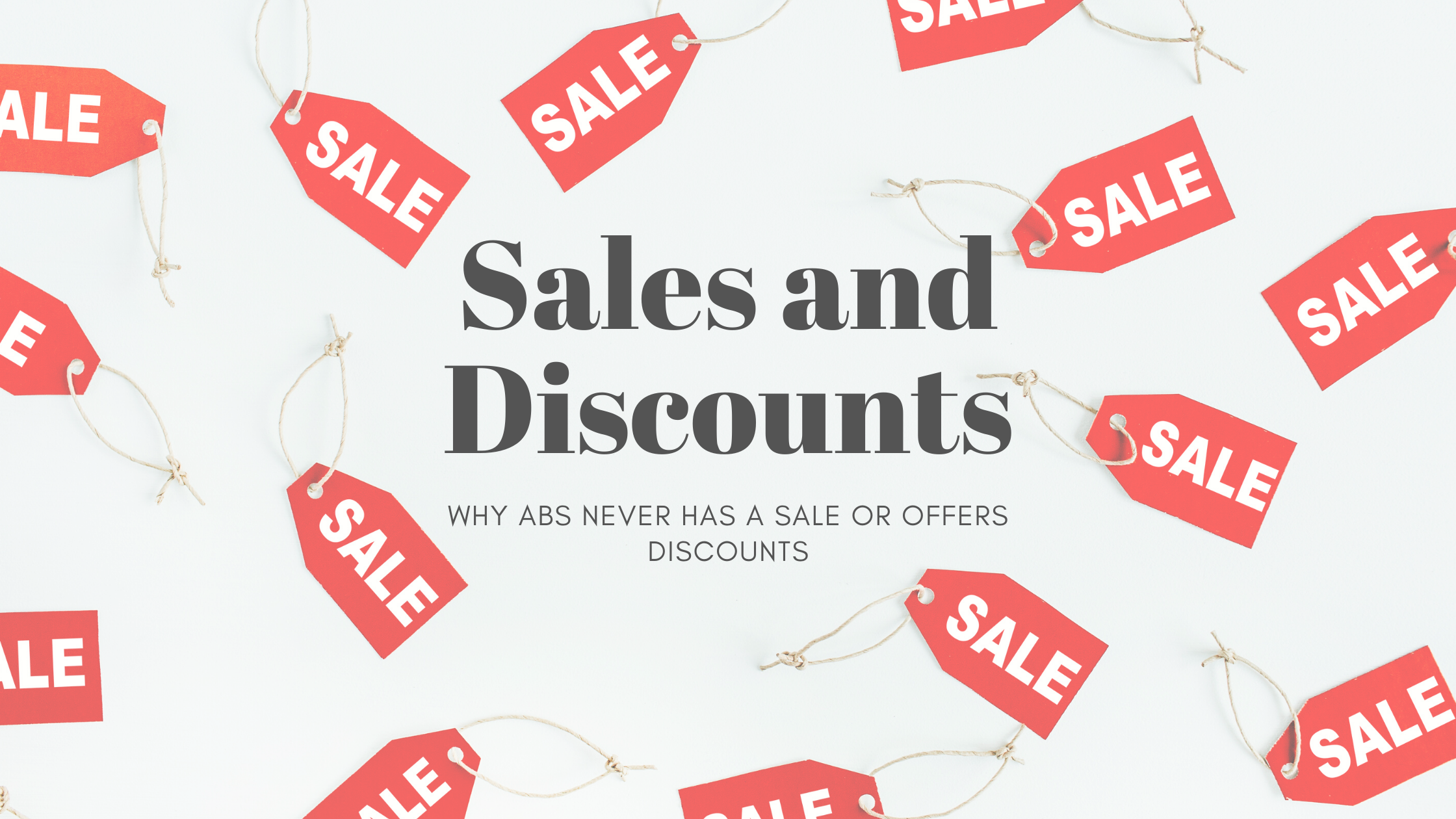 sale and discount sign