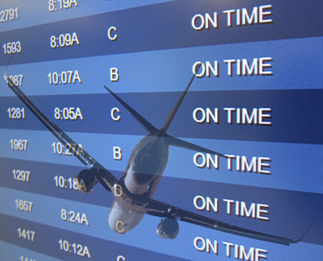 planes on time